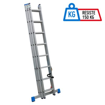 Escalera Articulada 18 Pasos Aluminio