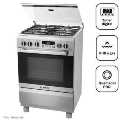 Cocina a Gas 4 Quemadores PRO449 Inox