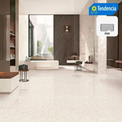 Porcelanato Beige Marmolizado 60x60 cm para piso