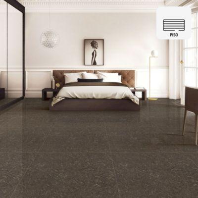 Porcelanato Marrón Marmolizado 60x60 cm para piso