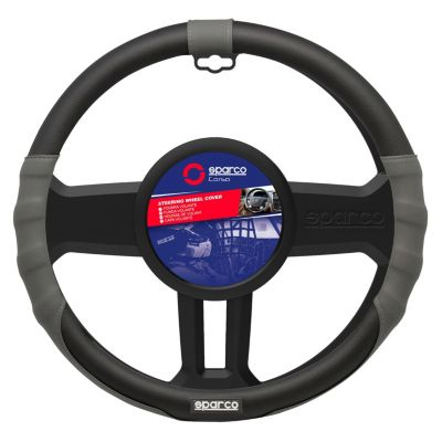 Cubrevolante para Auto Negro/Rojo