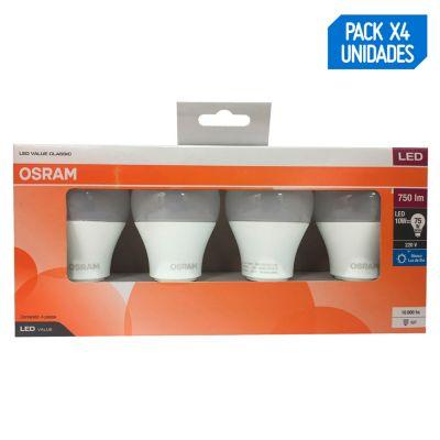 Pack x4 Foco LED 10w Luz Fría E27