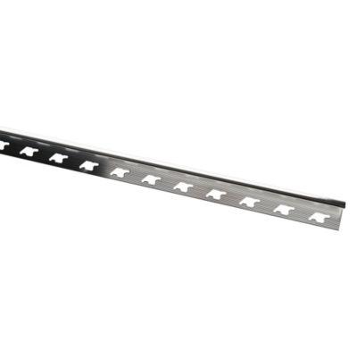 Rodón de Aluminio Brillante 10mm x 2.7m Gris