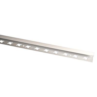 Perfil de Aluminio Mate 10mm x 2.5m Plata