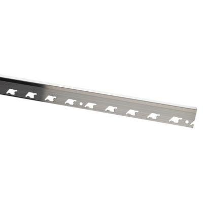 Perfil de Aluminio Brillante 10mm x 2.5m Plata