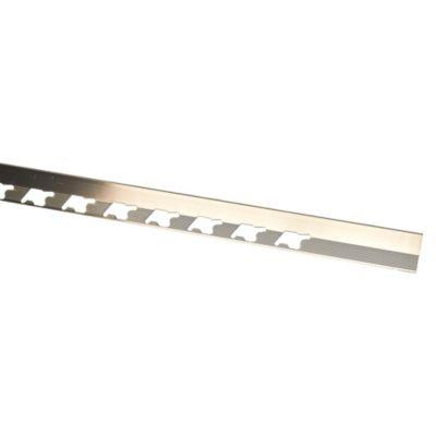 Perfil de Aluminio 10mm x 2.5m Titanio