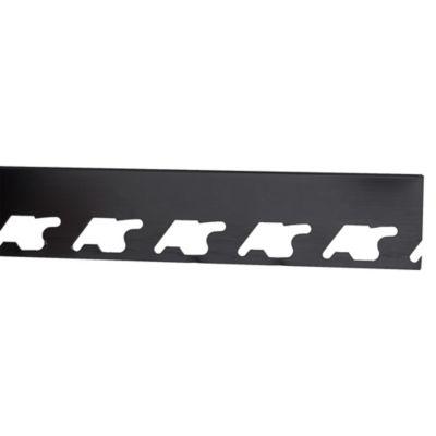 Perfil de Aluminio 10mm x 2.5m Negro