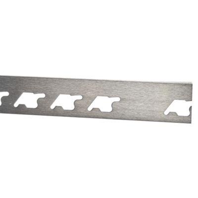 Perfil de Acero Inoxidable Cepillado 10mm x 2.5m