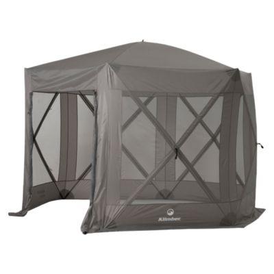 Toldo armable 3.5x3.5m Taupe con cortinas