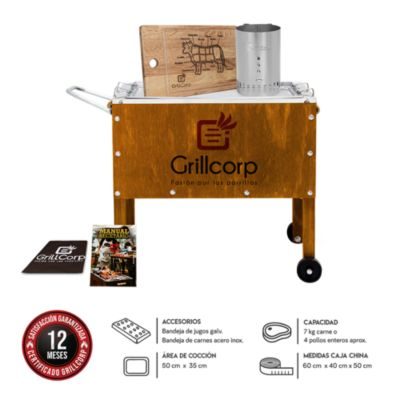 Caja China Mediana Junior Premium + Encendedor + Tabla Parrillera
