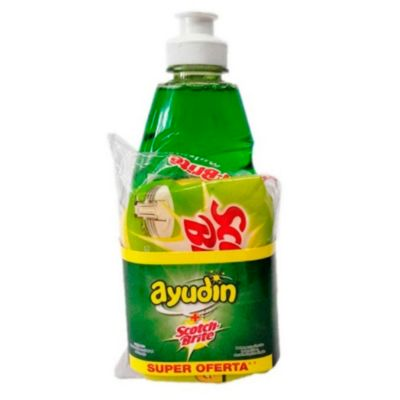 Detergente Líquido 300ml + Esponja Scotch Brite