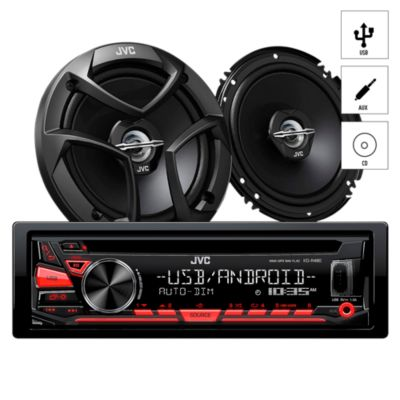 Autoradio CD/USB/AUX + 2 Parlantes KDR-480