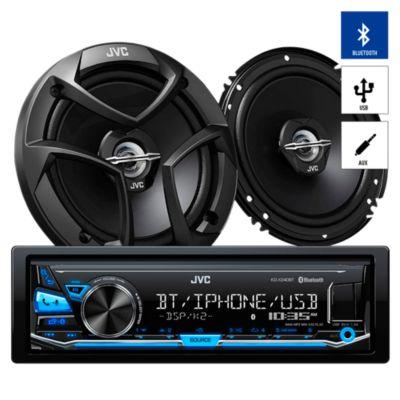 Autoradio Bluetooth/USB/AUX + 2 Parlantes KDX-240BT