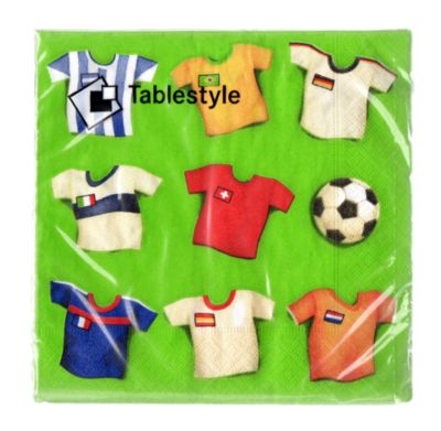 Servilleta de papel x 20 unid. Camiseta Mundial