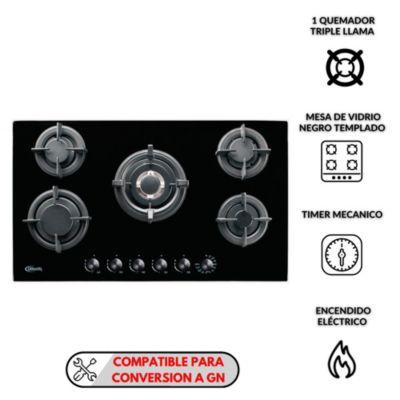 Cocina empotrable 5 quemadores Gina