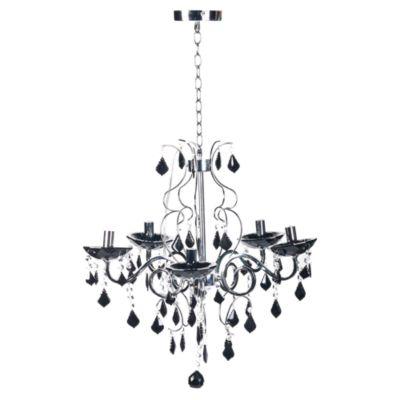 Lámpara Colgante Cristal Black 5 Luces