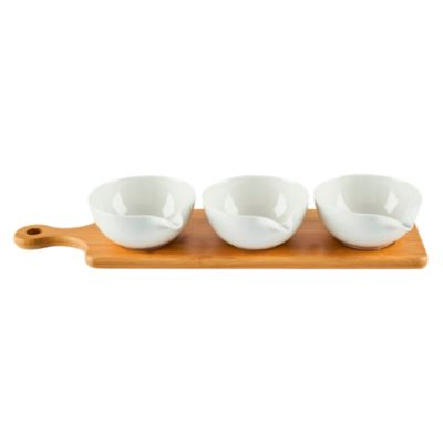 Set 3 Bowls Para Piqueo + Tabla
