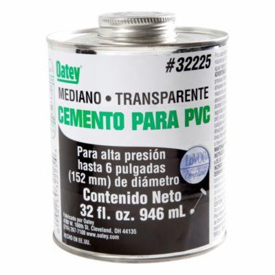 Cemento PVC / CPVC Mediano 32 oz Negro