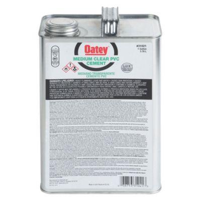 Mediano Transparente Cemento PVC Negro 1 GL