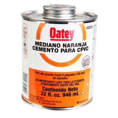 Cemento PVC 32 oz Naranja
