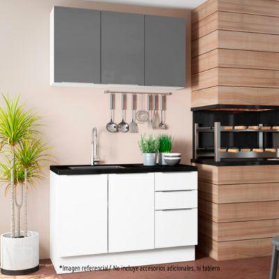 Mueble de cocina Modular Stella 120 cm Gris