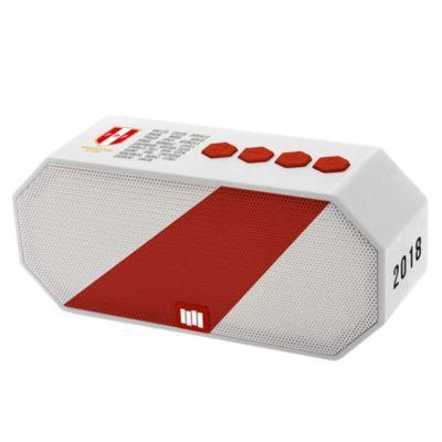 Parlante Bluetooth Perú Blanco con Rojo