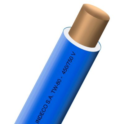 Alambre TW 12 AWG Azul x metro lineal