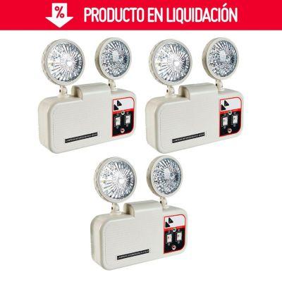 Pack de Lámparas de Emergencia 550lm x 3 Unidades