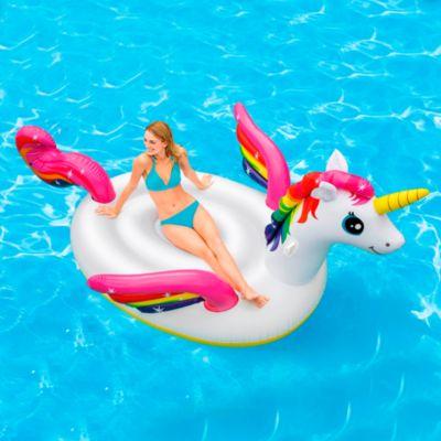 (Precio Regular S/. 149.9) Flotador Inflable Unicornio Isla 2.87m