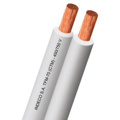 Cable TW 2x12AWG Blanco