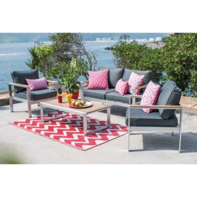 Juego de terraza aluminio/polywood 4 personas