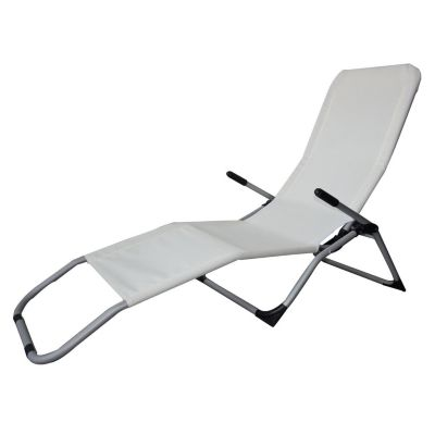 Reposera Plegable Relax 2 en 1 Blanco