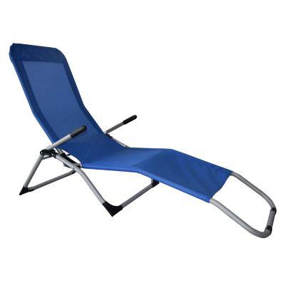 Reposera Plegable Relax 2x1 Azul