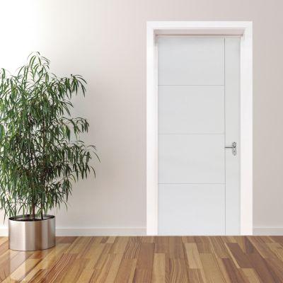 Puerta Interior Venti HDF 85 x 207 x 4 Blanca