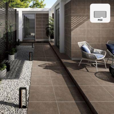 Gres Porcelánico Granada Terra Marrón Rústico 60x60 cm para piso