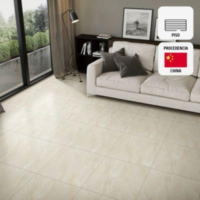 Gres Porcelánico Toledo Beige Marmolizado 60x60 cm para piso