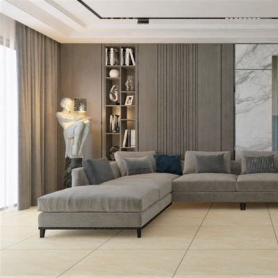 Gres Porcelánico Asturias Beige Marmolizado 60x60 cm para piso o pared