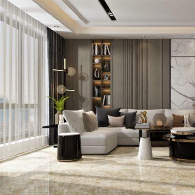 Gres Porcelánico Marrón Marmolizado 60x60 cm para piso o pared