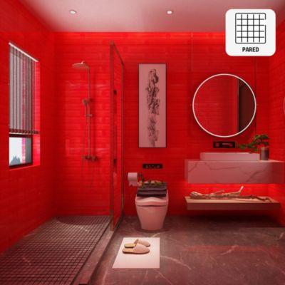 Cerámica Brick Las Vegas Rojo 30x60 cm para pared