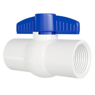 Válvula Esférica de PVC Roscada 1/2''
