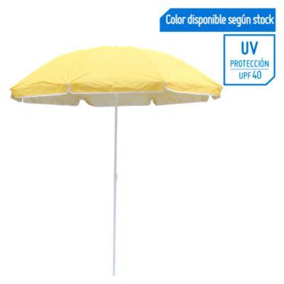 Sombrilla de playa 40UV 1.8m Amarillo