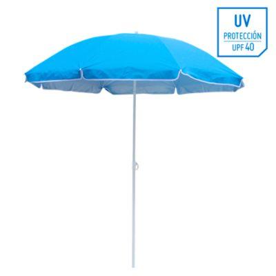Sombrilla de playa 40UV 1.8m Azul
