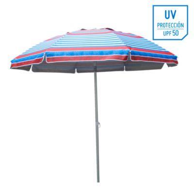Sombrilla de playa 50UV 2m Multicolor