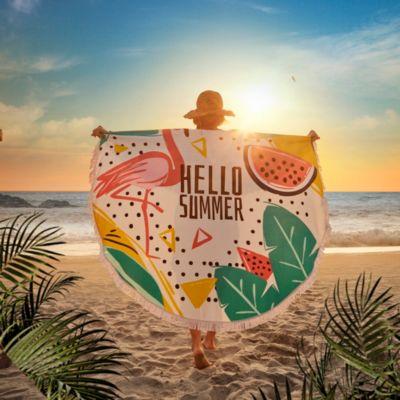 Toalla de Playa Redonda Flamenco 150cm