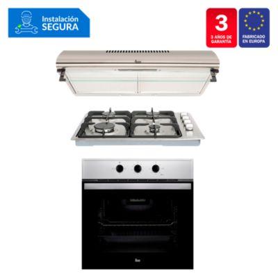Combo Cocina Empotrable HLX 50 4G AI CI + Campana CL 610 C/F + HornoHBB 535