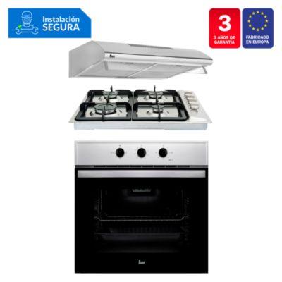 Combo Cocina Empotrable EP 60 4G AI CI + Campana CL 610 C/F + Horno HBB 535