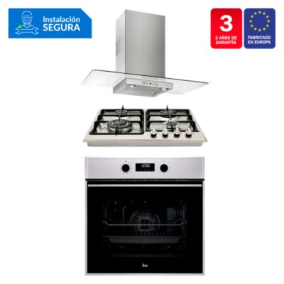 Combo Cocina Empotrable EH 60 4G TR CI + Campana ULTRASLIM DG 980 C/F + Horno HSB 635 SS