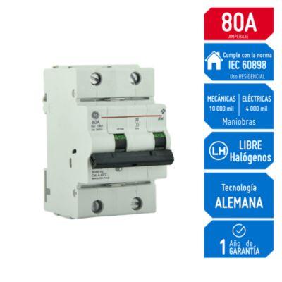 Interruptor Termomagnético 2x80A General Electric