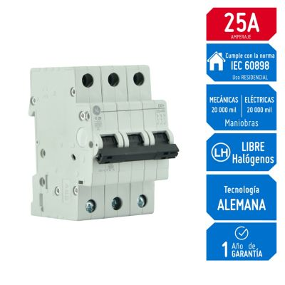 Interruptor Termomagnético 3x25A RD