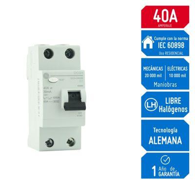Interruptor Diferencial 2x40A General Electric